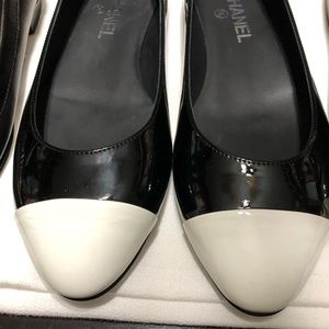 2 pairs of Chanel Flats